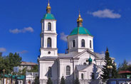 Omsk city tour St Nicholas cathedral